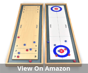 GoSports Shuffleboard and Curling 2 in 1 Table Top Board