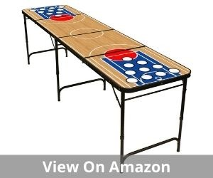 Folding Beer Pong Table with Bottle Opener